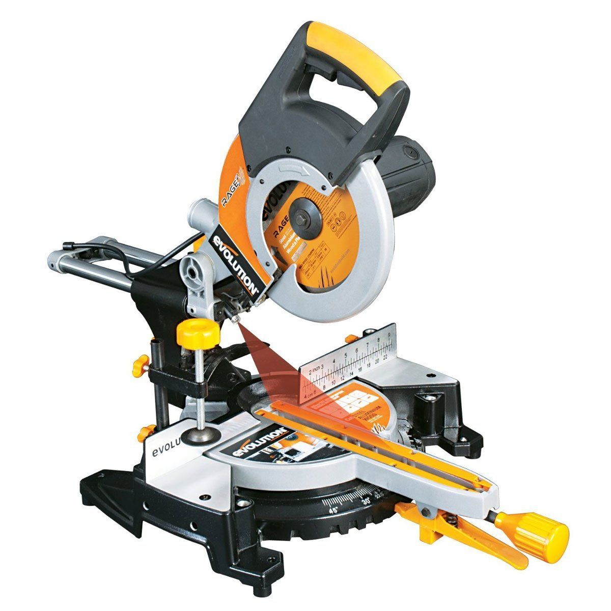 Evolution Rage3 Multipurpose Sliding Mitre Saw 255 mm - 230 V
